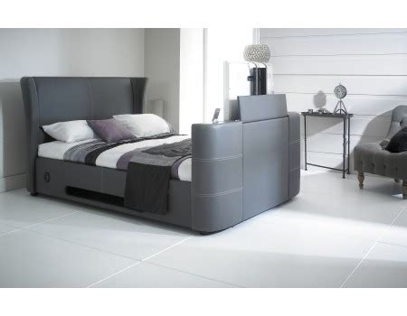 bed with built in speakers 2new grey 5 0 double leather music tv bed with built in