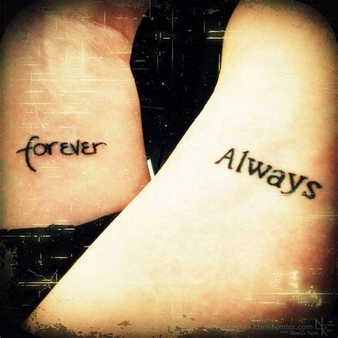forever and always tattoos for couples forever and always tattoos by demilu kitten on deviantart