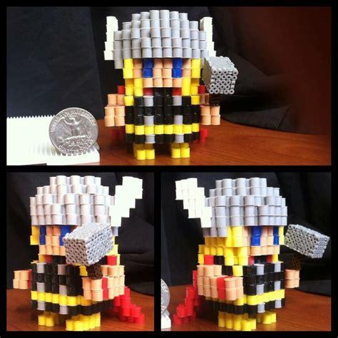 3d perler bead 3d thor perler bead by pixelpiece on deviantart 3d
