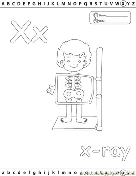 printable x rays x xray edu coloring page free alphabets coloring pages
