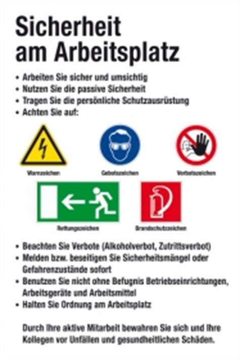 Baustellenschild Regeln by Aushang Am Arbeitsplatz Sicherheit Am Arbeitsplatz