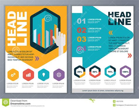 Brochure With Application by Set Of Vector Template For Brochure Flyer Poster Application Stock Vector Image 49278785