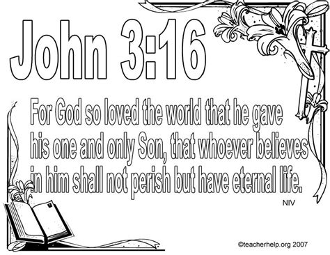 Coloring Pages With Bible Verses For God So Loved The World Coloring Page by Coloring Pages With Bible Verses