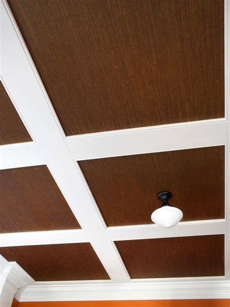 how to install grasscloth on a coffered ceiling hgtv