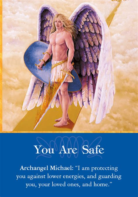 michael s sword you with archangel michael books oracle card you are safe doreen virtue official
