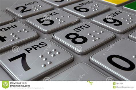 Blind Brail Atm Keypad Closeup Stock Illustration Image 59176966