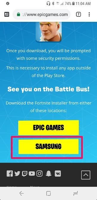 how to install fortnite for android