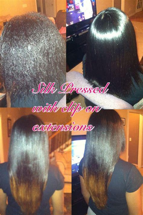 pressed hair styles natural hair silk pressed silk press pinterest