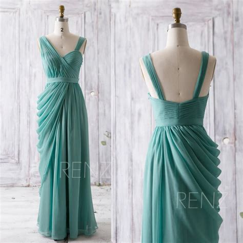 Asymmetric Wedding Dress by 2016 Teal Bridesmaid Dress Draped Wedding Dress
