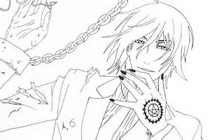 black butler coloring pages black butler free coloring pages