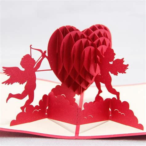 Valentines Cards Templates 3d by 3d Cupids With S Day Handmade 3d Greeting Cards