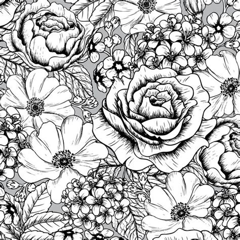 floral inspirations a detailed floral coloring book books 17 best images about coloring flowers on