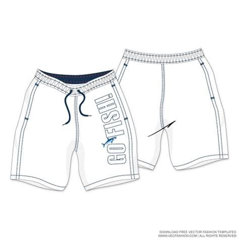 Shorts Template white swim shorts vector template fashion templates