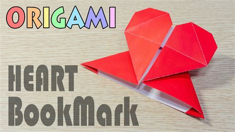 How To Make A Paper Bookmark For The Corner - origami s day origami hearts three ways