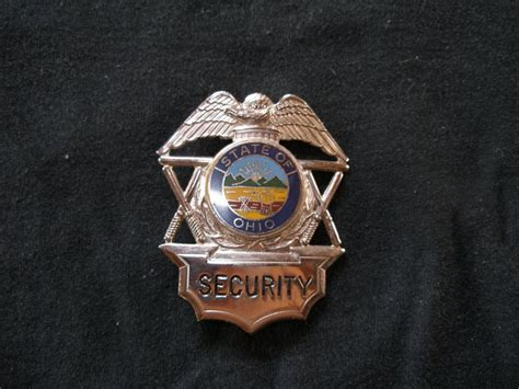 Security Seal Tali Segel Polos ohio security officer badge