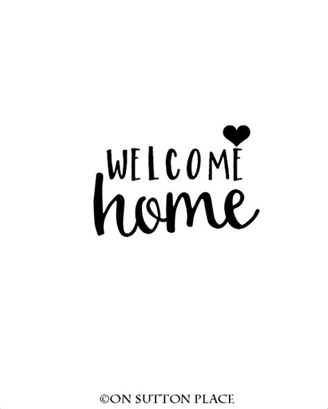 printable cards welcome back welcome home on sutton place