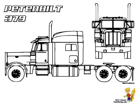 Peterbilt Coloring Pages cold coloring trucks trucks free 18 wheelers