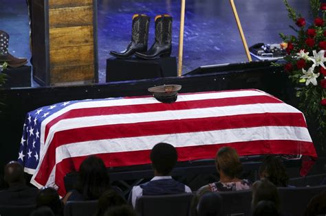 funeral service held for duty officer army service