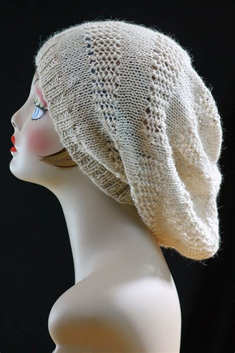 free hat knitting patterns needles slouch hat allfreeknitting