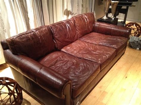 sofa tief hardware leather couches and restoration hardware on