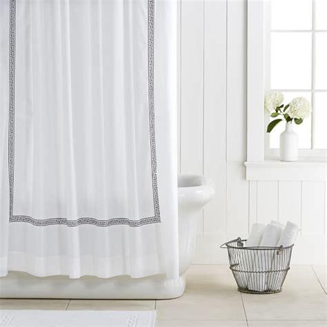 williams sonoma curtains greek key shower curtain williams sonoma