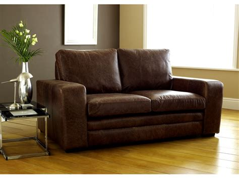 Brown Modern Leather Sofabed Leather Sofa Beds Leather Sofas