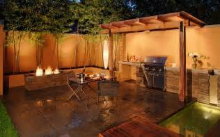 Outdoor Barbecue Kitchen Designs How You Can Use Outdoor Lighting To Highlight Your Landscape