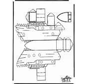 NuKleurennl / Knutselen Bouwplaten Bouwplaat Boot
