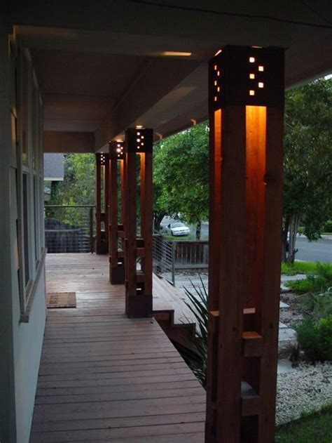custom lighted columns home design ideas pictures remodel and decor