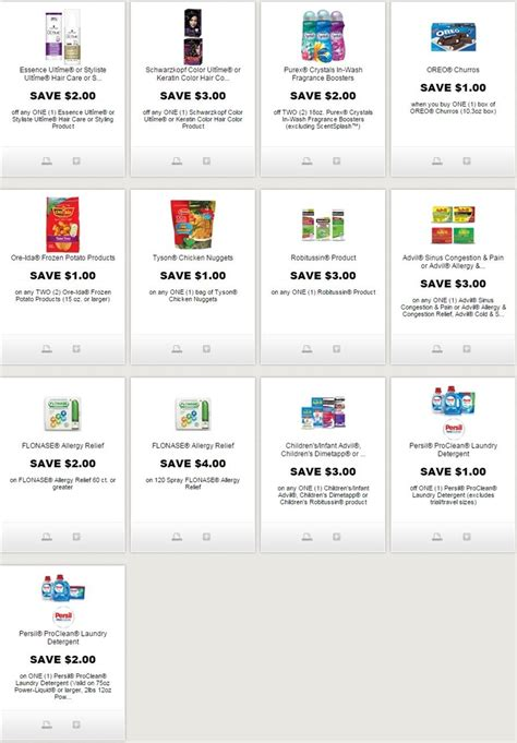 printable grocery coupons redplum i coupons new printable coupons for oreos robitussin