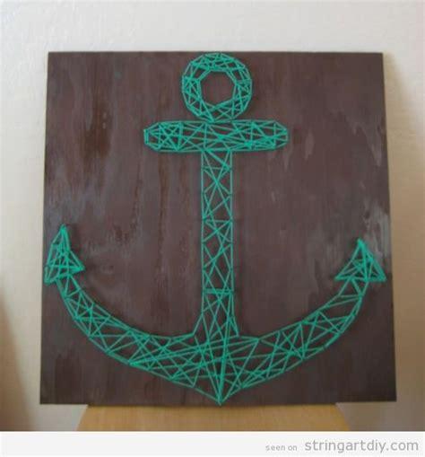 String Wall Patterns - anchor shaped wall string string diy free