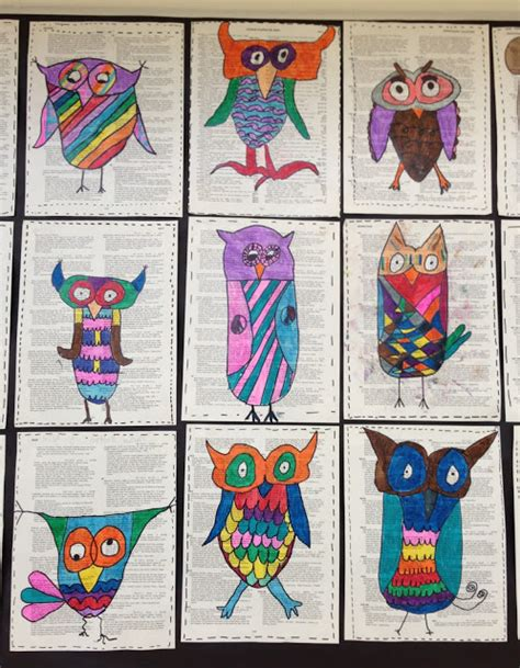 apex pattern works apex elementary art owl always love art