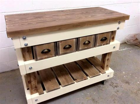 Pallet Kitchen Island Table 40 Pallets