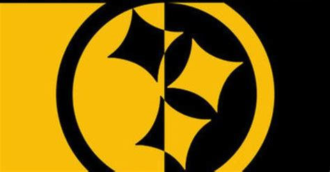 steelers logo black and yellow