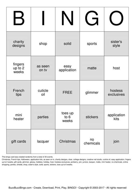 printable jamberry instructions jamberry bingo cards to download print and customize