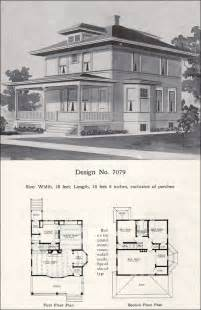 American Foursquare House Plans Prairie Box American Foursquare 1908 Radford Plan No 7079