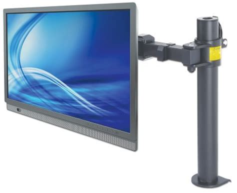 swing monitor manhattan products lcd monitor mount with double link