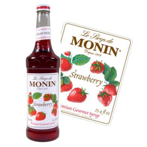 Strawberry Syrup Merk Monin monin syrup strawberry 70cl