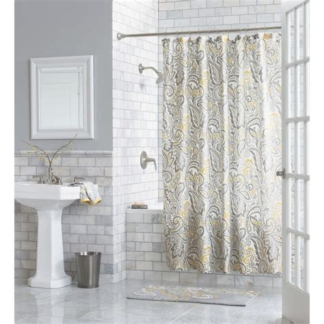 target paisley shower curtain threshold paisley shower curtain yellow bathroom