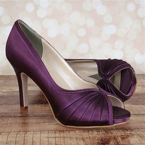 custom wedding sneakers custom wedding shoes plum platform peep toe wedding