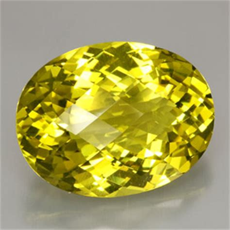 oval checkerboard yellow citrine lemon quartz gemstone