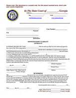 How To Write A Search Warrant Affidavit Affidavit Of Bona Fide Marriage Template