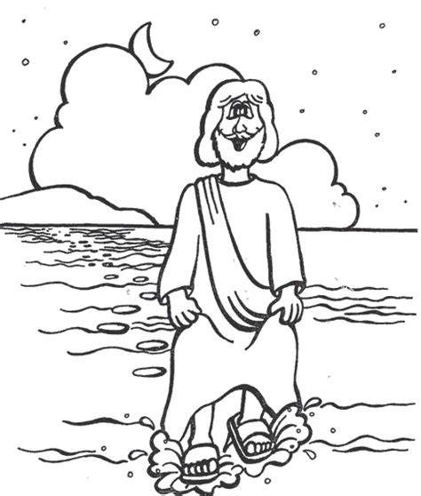 coloring pages for jesus walking on water walks on water coloring pages preschool coloring pages