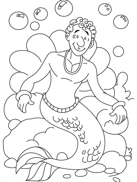 Free Coloring Pages Of Mermaid And Merman Merman Coloring Pages