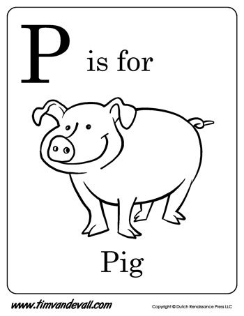 nothing in particular a coloring journal books p is for pig letter p coloring page pdf