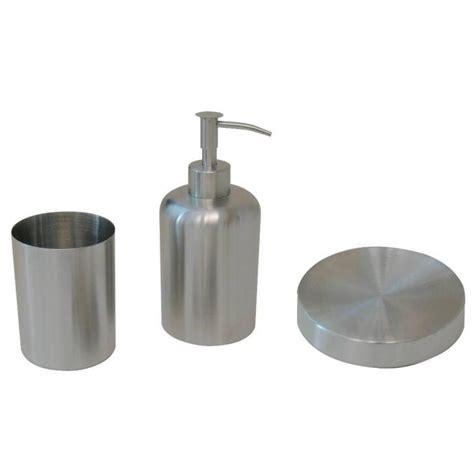 accessori bagno inox kit 3 pezzi accessori in acciaio inox satinato