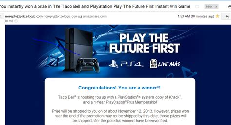 Ps4 Giveaway Taco Bell - rumor first free ps4 winner announced in taco bell giveaway ps4 will arrive on