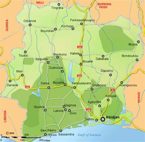 ivory coast map ivory coast map ivory coast africa mappery