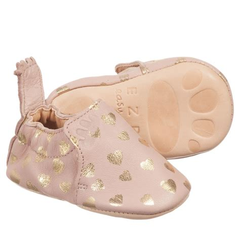 leather baby slippers easy peasy pink leather baby blumoo slippers