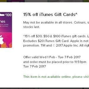 Adrenalin Gift Card Woolworths - 15 off itunes gift cards at woolworths ozbargain